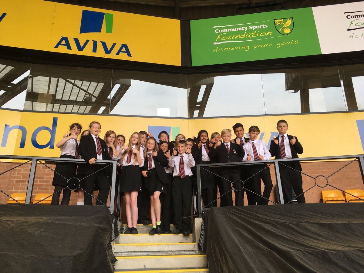 YR7 completed their enterprise projects during a visit to Carrow Road with @plcommunities @norwichcitycsf #LshsEnrichment