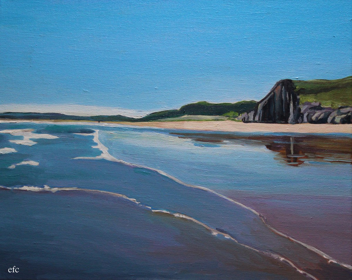 &quot;Summer Calm&quot; #new #oil #painting #gower #wales #summer #waves #beach<br>http://pic.twitter.com/mDaG3wwKmc
