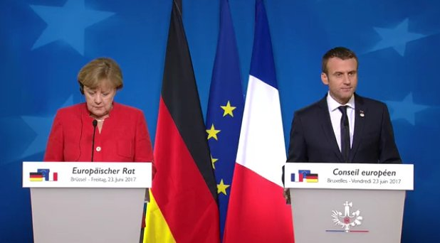 #Merkel + #Macron make striking decision to brief together at his first #EUCO, sending unmistakable message that #EU unity is their priority<br>http://pic.twitter.com/daTk4bPb9m