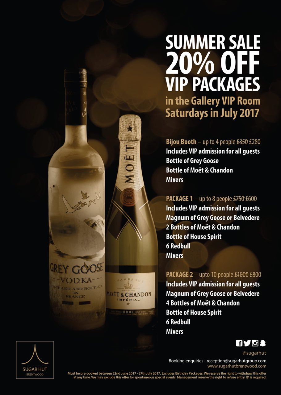 Book your Gallery VIP table for July now and receive 20% off the package price #VIP #summersale https://t.co/bk0Pim1h4g