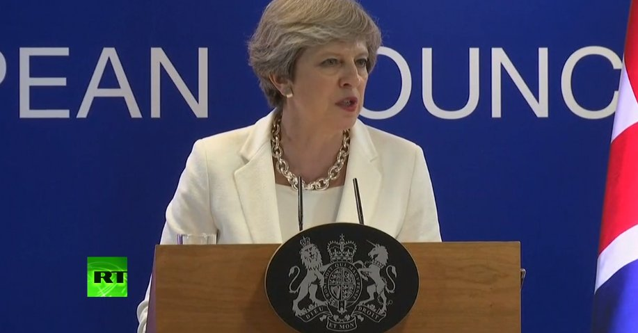 WATCH LIVE: @theresa_may speaks at European Council Summit in Brussels >>