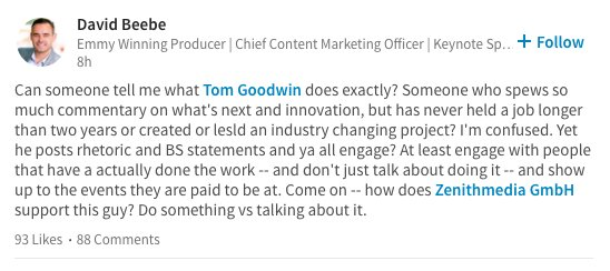 There's beef on LinkedIn https://t.co/GIWprsSprI
