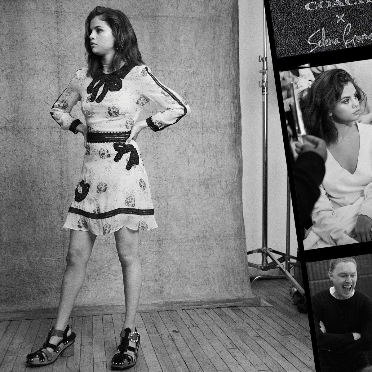 Campaign-ready with #SelenaGomez.  #CoachxSelena #CoachNY
