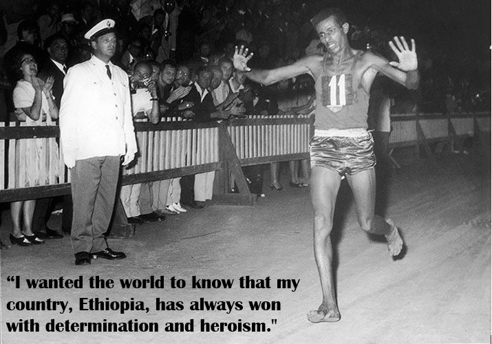 On #OlympicDay, we remember #AbebeBikila, the 1st #Ethiopia|n &amp; African to win an Olympic gold. He ran the 1960 #marathon in Rome barefoot  <br>http://pic.twitter.com/XkWJ5OmOl5