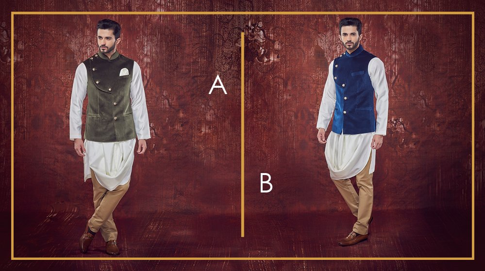 Which jewel tone do you prefer? Green or Blue? #Menswear #MenWithStyle #IndianWear<br>http://pic.twitter.com/ibcSbfAKOS