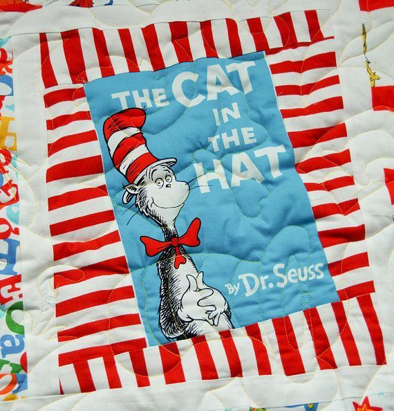 #NEW! #FUN #Seuss #Handmade #Quilt.  Great #Birthday gift for all ages.  #Grandson #Granddaughter #Toddler #Baby   http:// buff.ly/2rWfP1n  &nbsp;  <br>http://pic.twitter.com/Vs3ZGs3edc