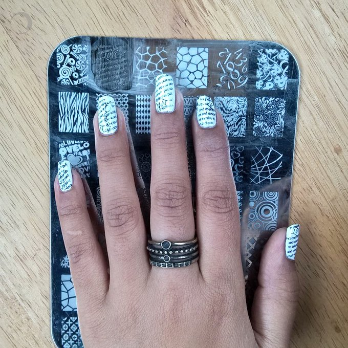 Newspaper Print Nail Art