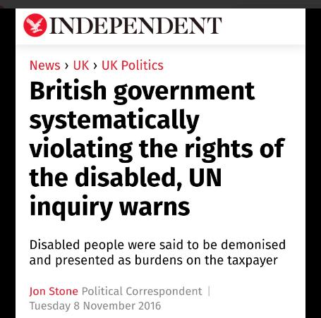Abuses of sick &amp; disabled people been going on for years via #DWP #sanctions #ESAcuts UK just as bad as US<br>http://pic.twitter.com/nwfscZM565