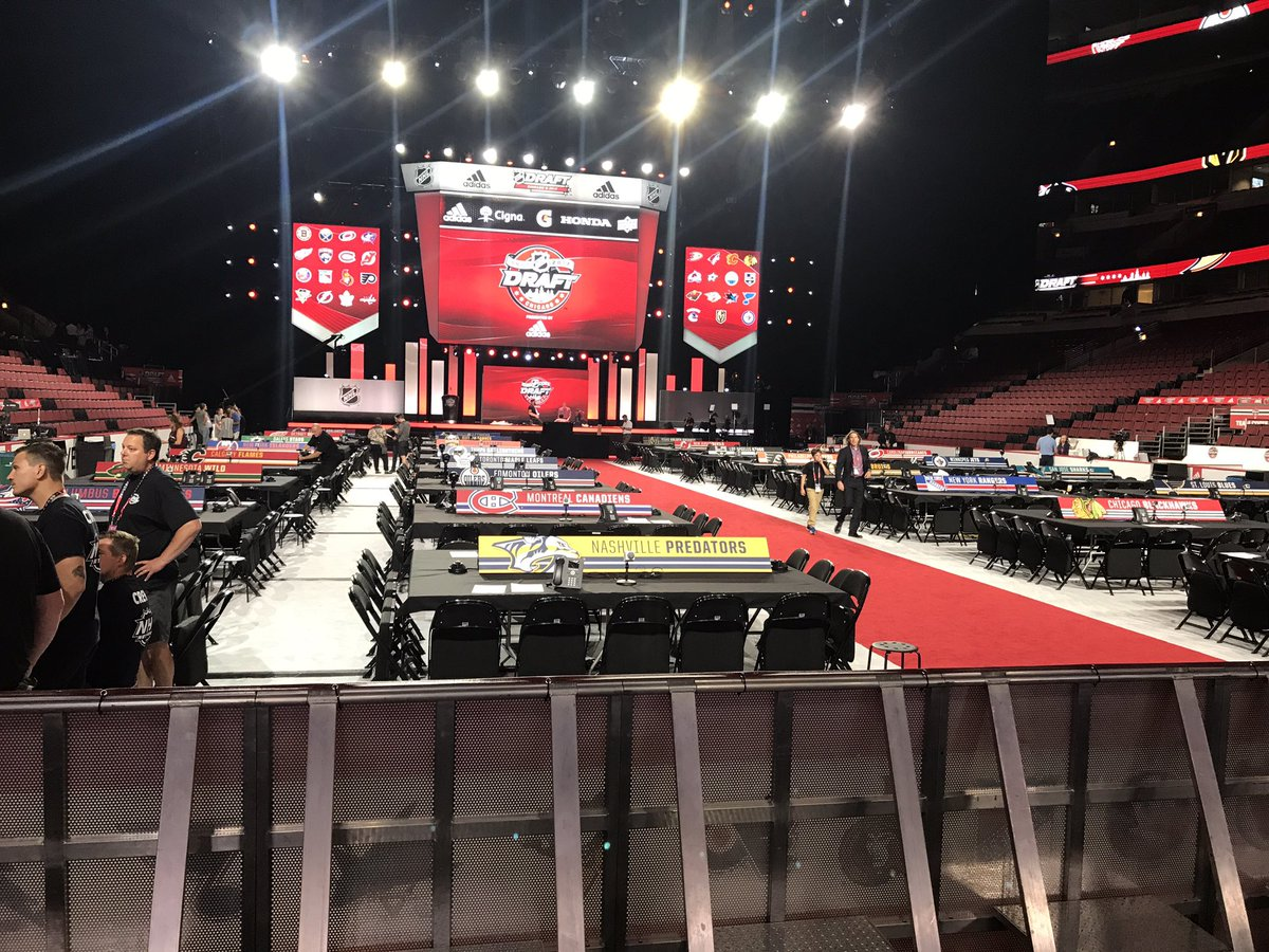 Calm before the storm at the United Center. #NHLDraft goes at 5 pm mou...