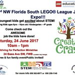 Come see the 2nd NW FL South #LEGO league @firstlegoleague tomorrow Saturday 6/24 at 10 am in FWB @S4pSynergy @STEMfloridaInc @nwfdailynews