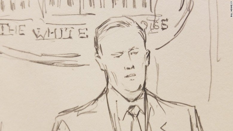The White House banned cameras at its press briefings, so @CNN sent its favorite sketch artist instead
