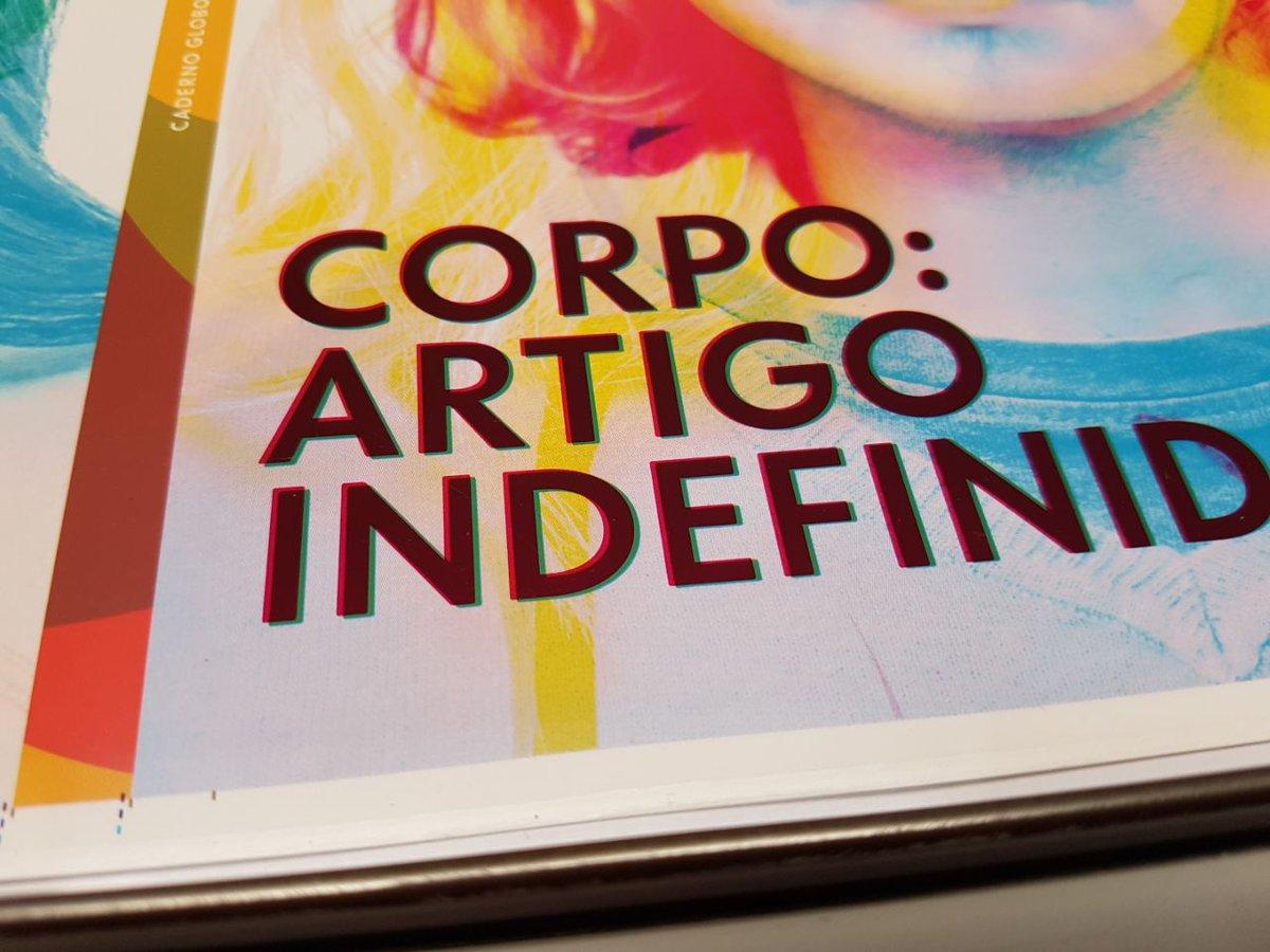 28 de junho, dia do Orgulho LGBT é também a data de lançamento do Caderno Globo 'Corpo: Artigo Indefinido'. https://t.co/xUTcQbTwMv