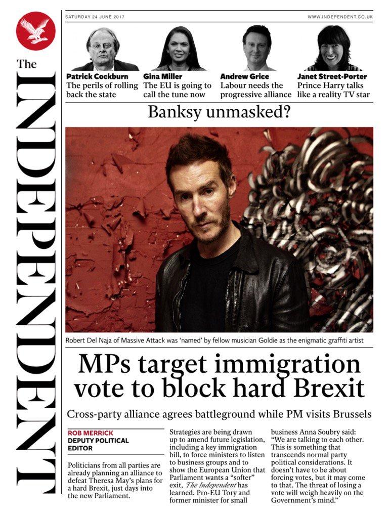 Saturday's Independent:
