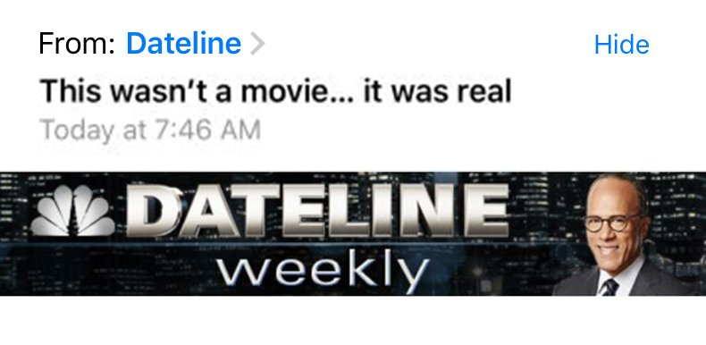 All the #Dateline info you need... straight to your inbox: https://t.c...