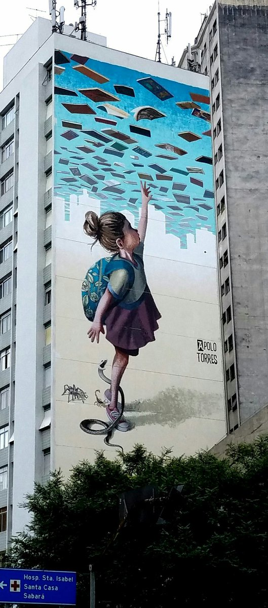 Street art &quot;Education is not a crime&quot; by Apolo Torres #Saopaulo #Bresil <br>http://pic.twitter.com/8zHTVqMurV