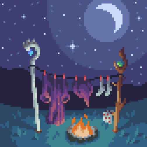 Laundry day comes for wizards as well... #clothing for #pixel_dailies @Pixel_Dailies #pixelart #art #aseprite<br>http://pic.twitter.com/LHPS62x3In