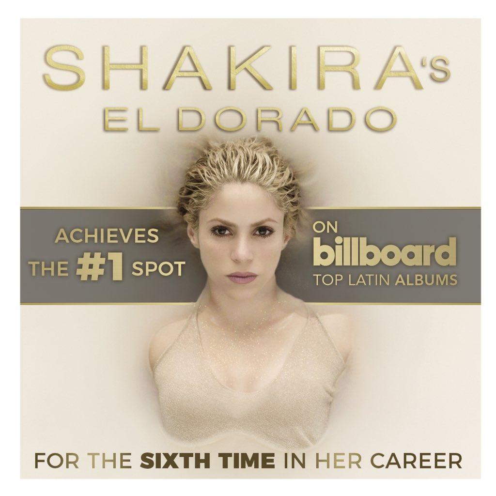 El Dorado is @billboard's #1 Latin Album! El Dorado es número #1 en Billboard Álbum Latinos! https://t.co/UrOmHlGAyK ShakHQ