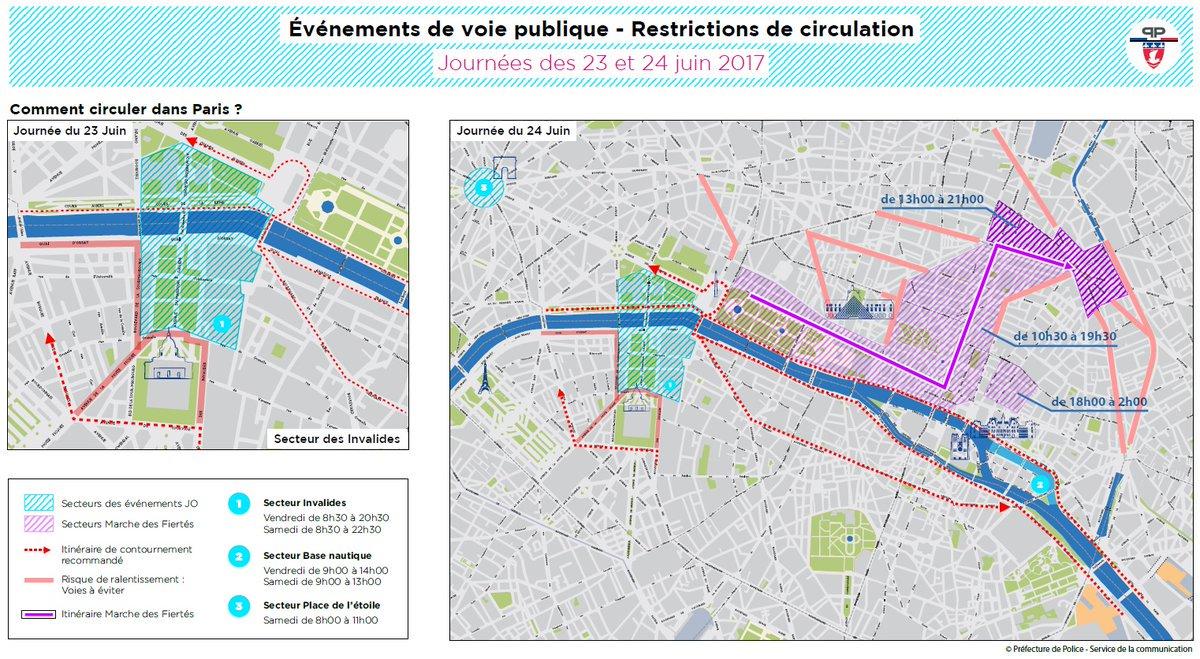 Consultez la carte de #circulation relative à la #JourneeOlympique et à la #MarcheDesFiertes du samedi 24 juin 👉 https://t.co/UYMQUQEjXm