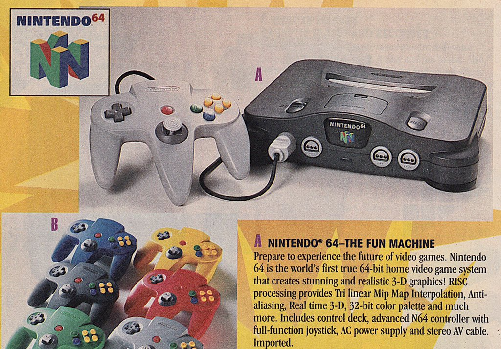 Retronewsnow On Twitter On June 23 1996 The Nintendo 64 Video Game Console Was Released