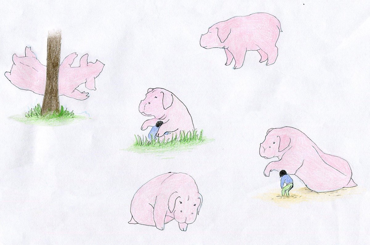 Little pink Okjas because my hype for this film is through the roof and I haven&#39;t thought about anything else for about a month #Okja <br>http://pic.twitter.com/GbMZJjat5x