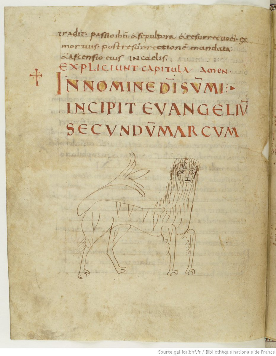 The Lion of St Mark : often the occasion for superb illuminations. Not today. (Paris, BnF lat. 9386) #EpicFail #doodle<br>http://pic.twitter.com/5Qi6SOVug3