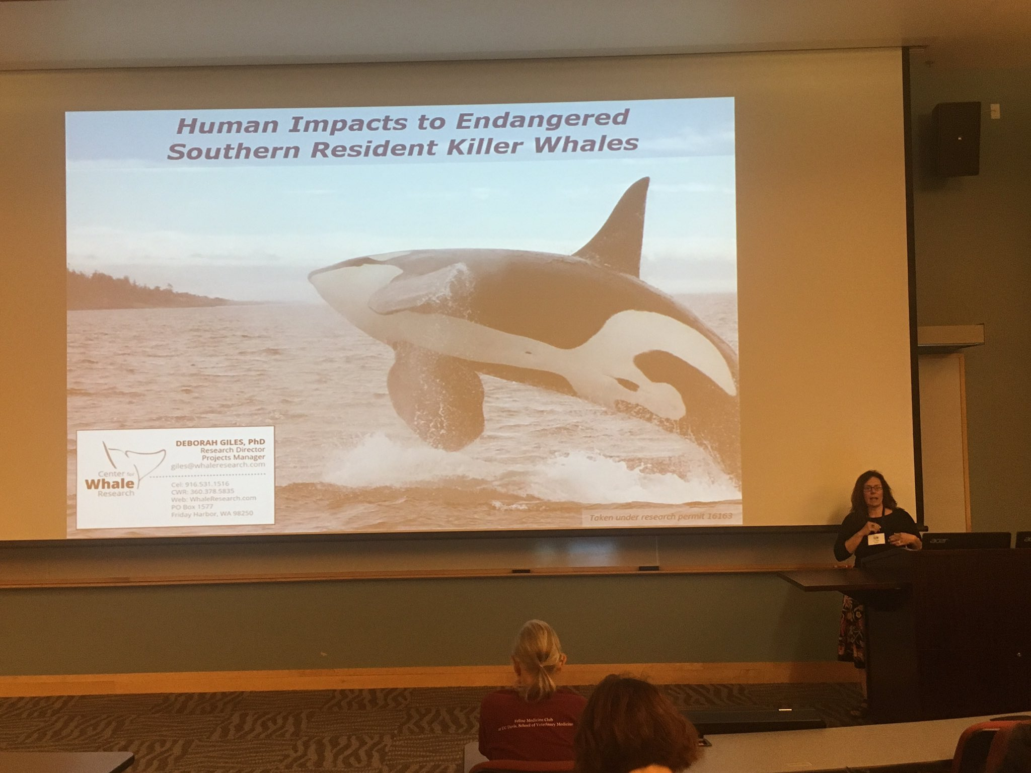 #ISAZ2017 DA Giles gives her plenary about killer whales: the human impact https://t.co/sud1xodimh