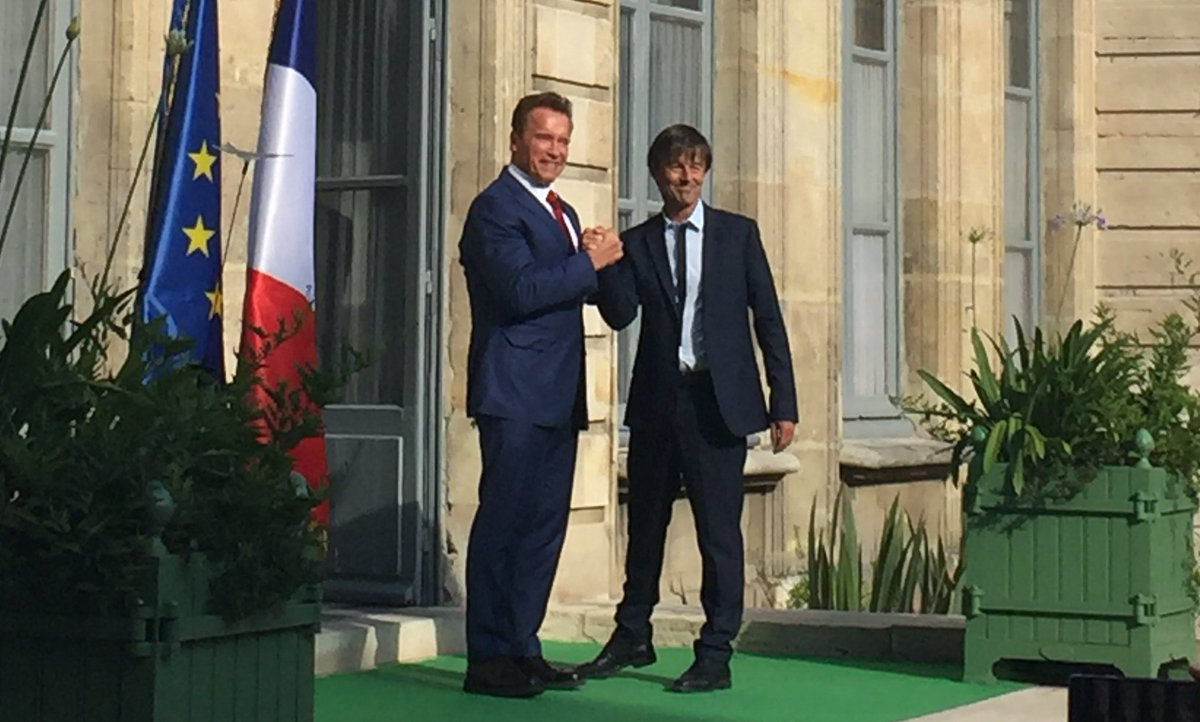 #MakeOurPlanetGreatAgain with @N_Hulot and Arnold  @Schwarzenegger #ClimateAction <br>http://pic.twitter.com/9VDXvCJgm1