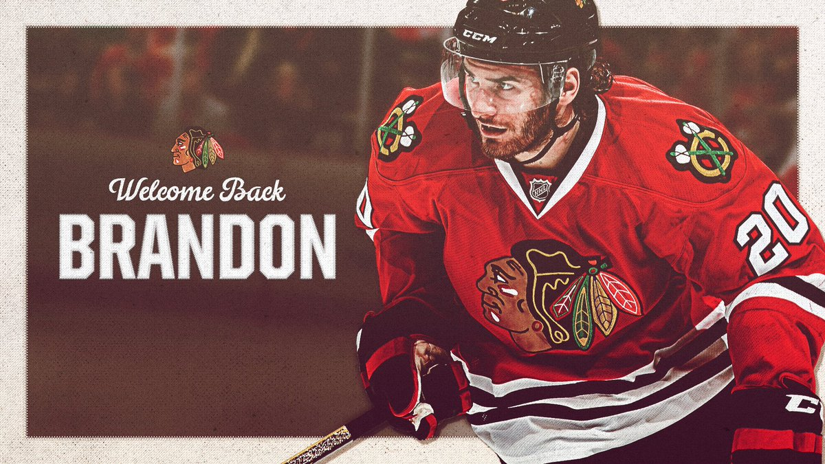 Two-time #StanleyCup winner Brandon Saad is a Blackhawk again.  Welcom...