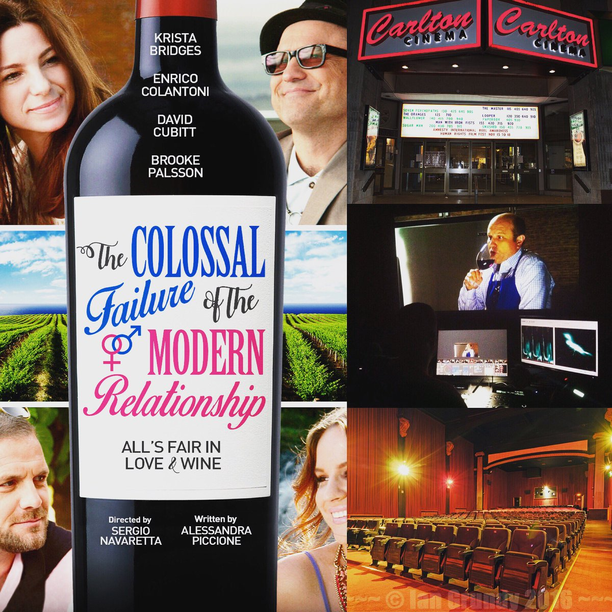 Join us tonight for a glass of wine at the opening of #ColossalMovie! @ricocolantoni @1stweekendclub @Telefilm_Canada #indiefilm #comedy <br>http://pic.twitter.com/YRJN3t8IeV