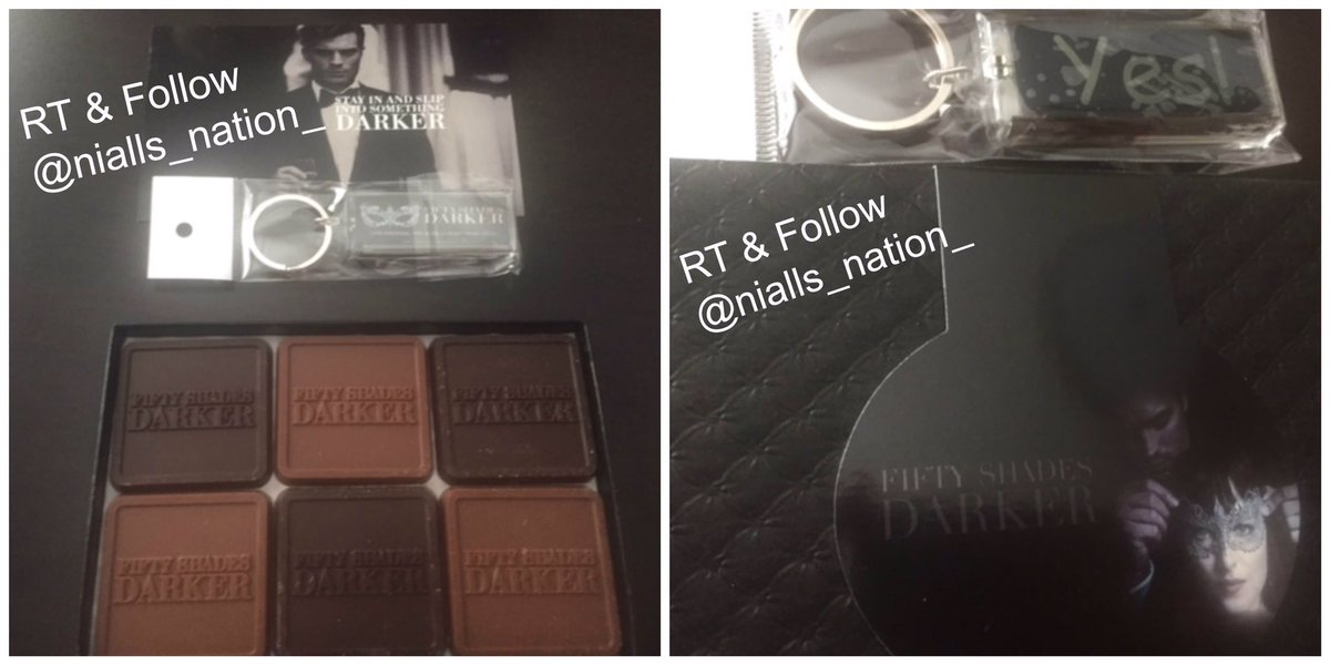 #Giveaway RT &amp; Follow Draw date 7/1 open  #FiftyShadesDarker YES keychain+box #FiftyShades chocolates #Crusher #NiallLeonard #Screenwriter<br>http://pic.twitter.com/NdC0BrCTi2