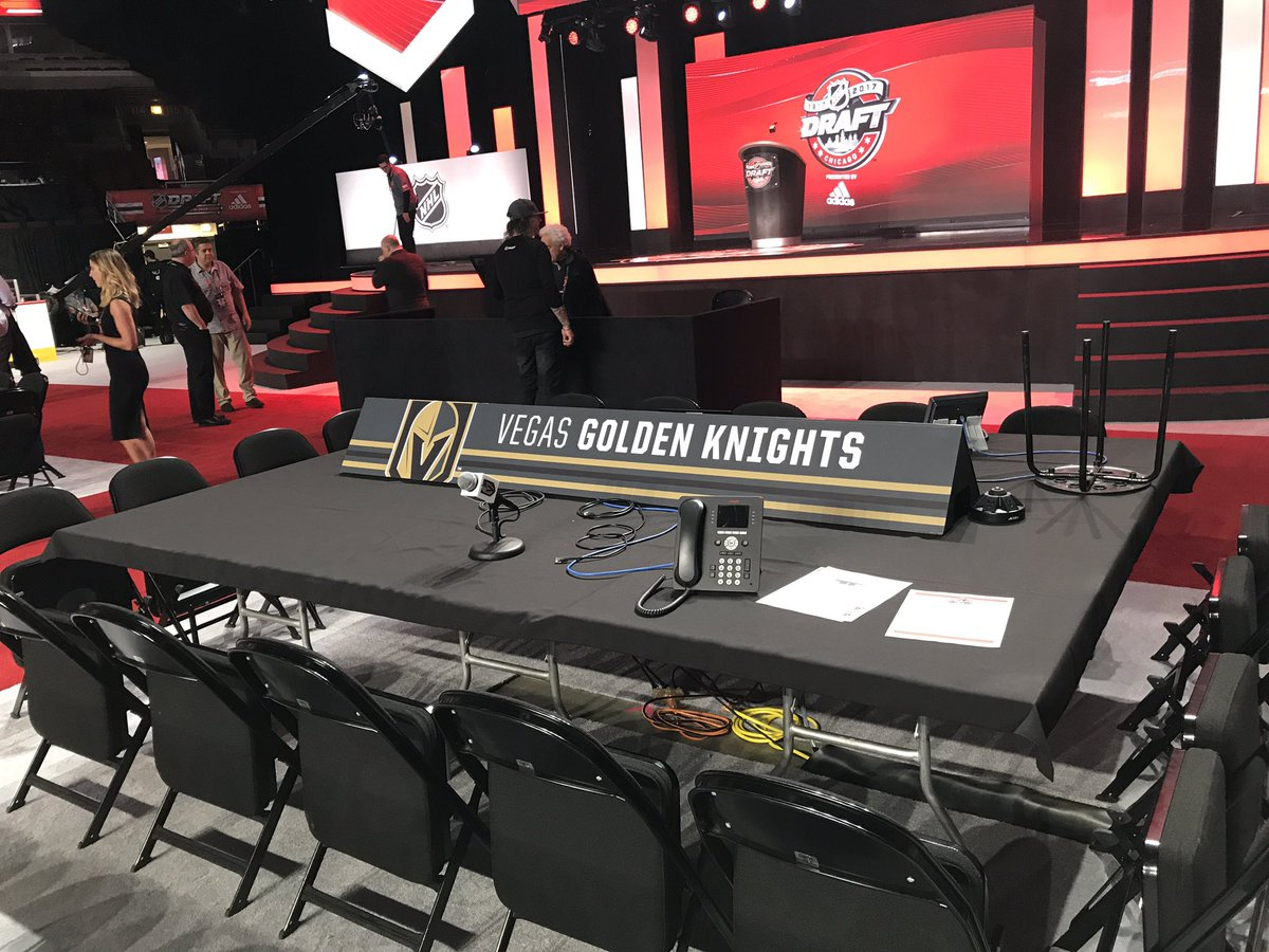 The Golden Knights have arrived at our first #NHLDRAFT. https://t.co/3...