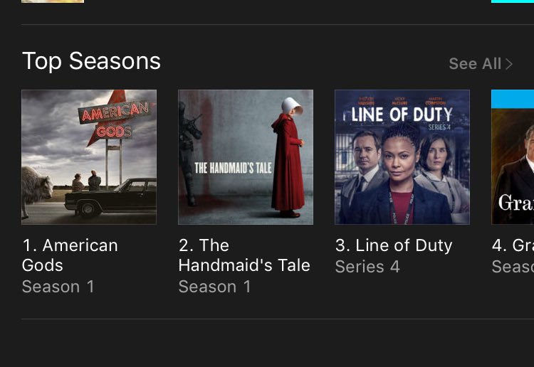 #1 on @iTunes in #Canada Coming soon to #USA - U can watch on @AmericanGodsSTZ and @GodsOnAmazon @neilhimself @BryanFuller @andmichaelgreen<br>http://pic.twitter.com/wZe1A4peNf