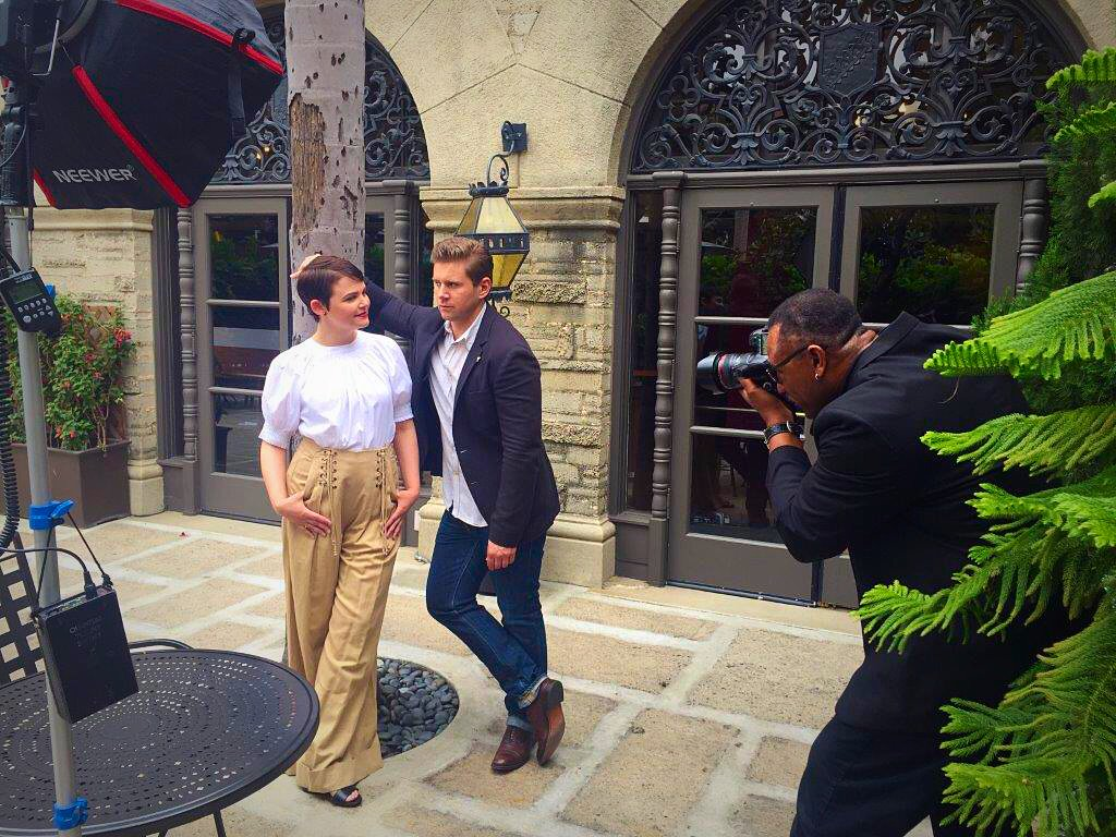 Sneak peek at #Constellations photo shoot & chat with @latimes. Stay tuned for the final editorial. @Allenleech https://t.co/Ss8AMwc6Ms