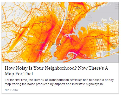 The Bts Maps The Noise Pollution Of Some Major Us Cities Http N Pr 2t3llkx Pic Twitter Com Neudtaysiy