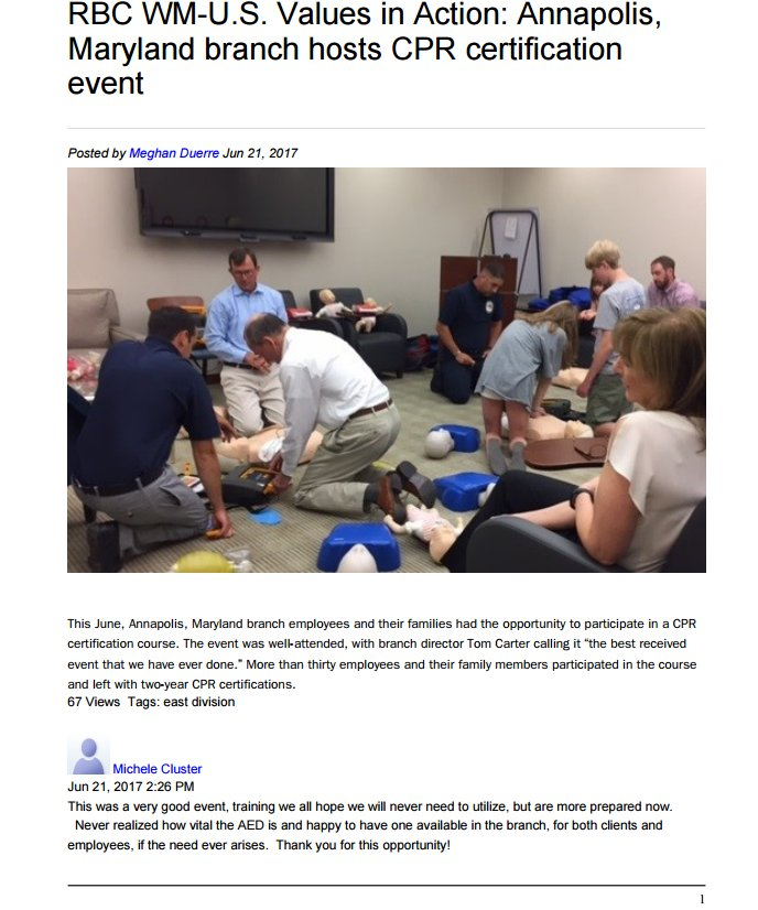 Bayside Cpr Aed Training Center On Twitter Thank You Rbccanada
