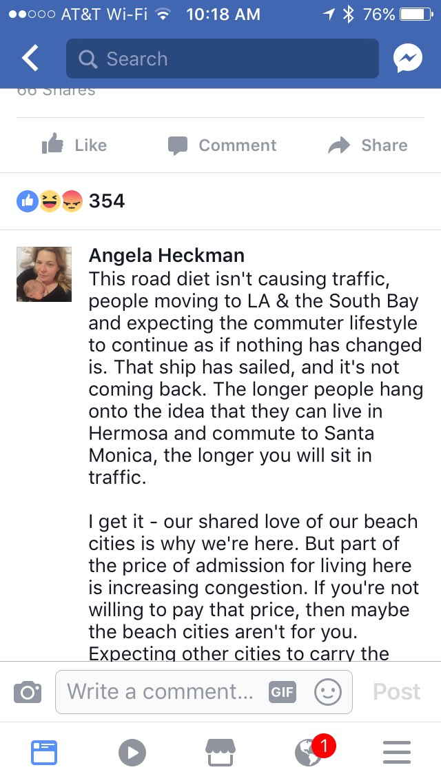 Love this comment: your beach city has traffic calming on this same road, why can't we? https://t.co/ZELFaZUyIK