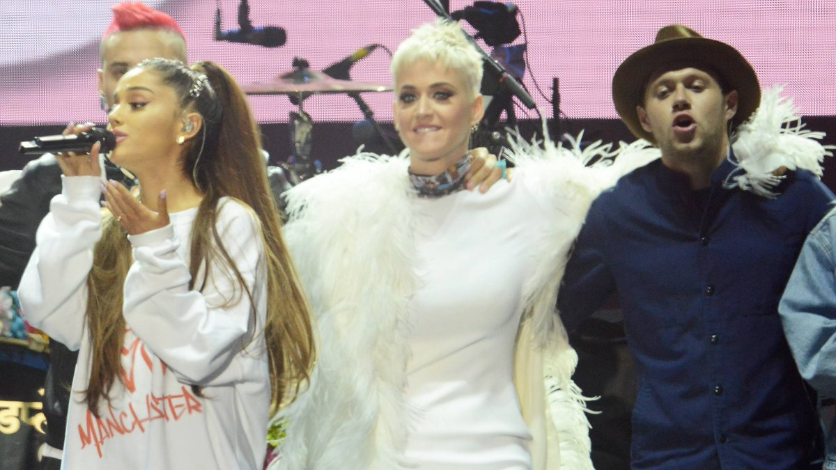 Katy Perry shares a behind-the-scenes look of the #OneLoveManchester b...