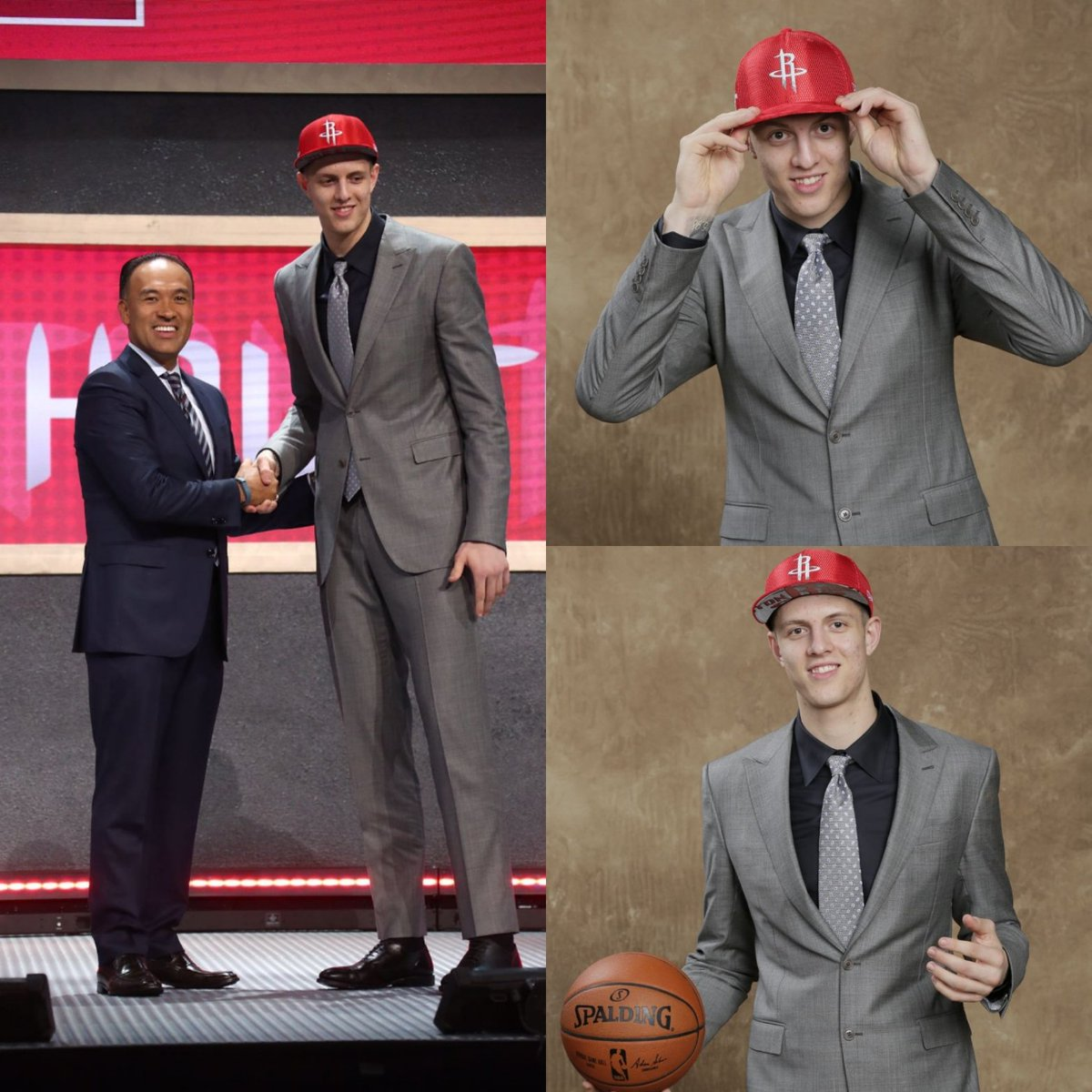 Last night we selected German 7-footer Isaiah Hartenstein with the 43rd pick. Give him a follow at @Ipjh55 to welcome him to #RedNation
