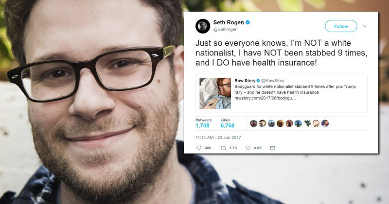 Actor Seth Rogen Mocks Man Who Was Stabbed 9 Times For Supporting Trump https://t.co/gqeqAsrnl9