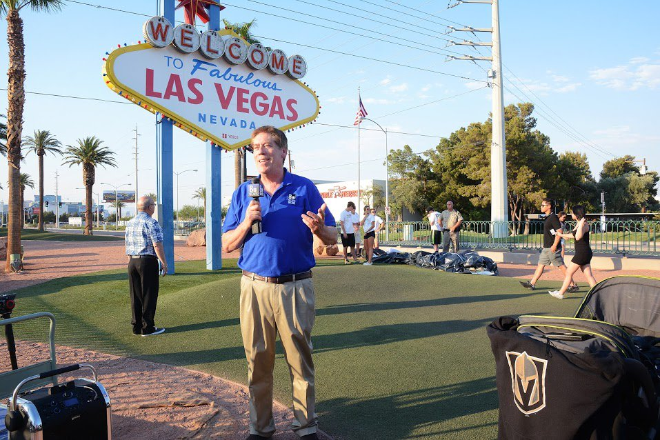 At the #LasVegas Sign this week covering the #VegasGoldenKnights Jerse...