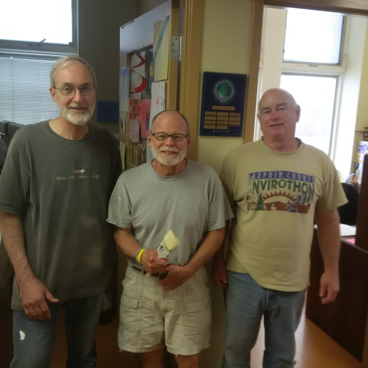Thanks to Jim, Gerry & Mike of @ststep, painting Head of School's office as we ready it for new HoS Ellen Hartman