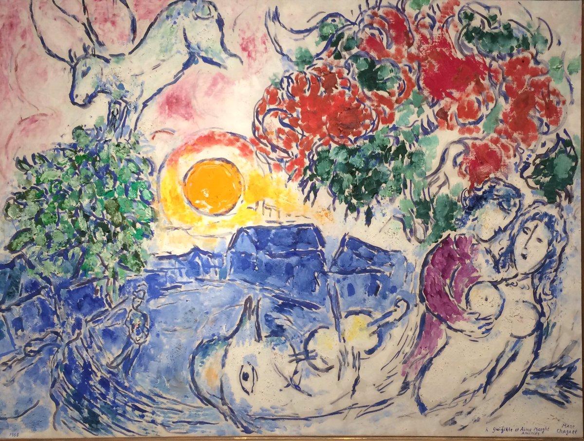 Marc #CHAGALL, &quot;THE YELLOW SUN&quot; 1958 #art #arttwit #twitart #sun #iloveart #followart #artlover<br>http://pic.twitter.com/iJ53MUFnOa