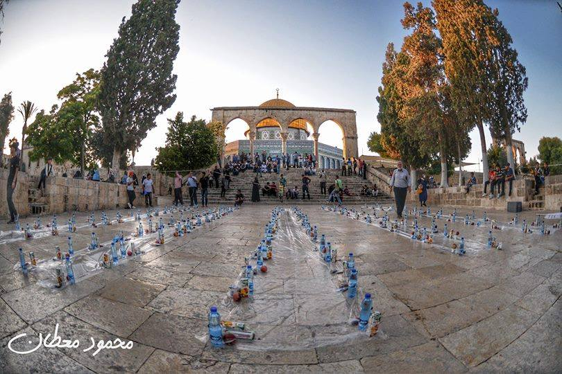 Today&#39;s #iftar at Al-Aqsa mosque. #Palestine  #Jerusalem  #Ramadan<br>http://pic.twitter.com/3wPkG4AMWY