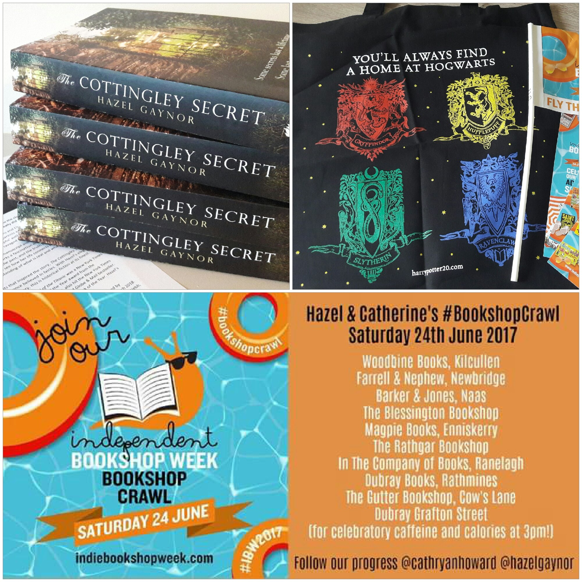 Looking far too organised for tomorrow's #IBW2017 #bookshopcrawl with @cathryanhoward What did we forget?! https://t.co/zUjyQ1nStK