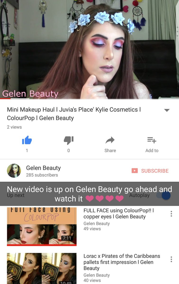 New video is up on Gelen Beauty #Tutorial #makeupartist #youtuber #mua #makeup #pink #Purple #makeupaddict #YouTube #haul #gelen_beauty<br>http://pic.twitter.com/66Kq1cIU0j