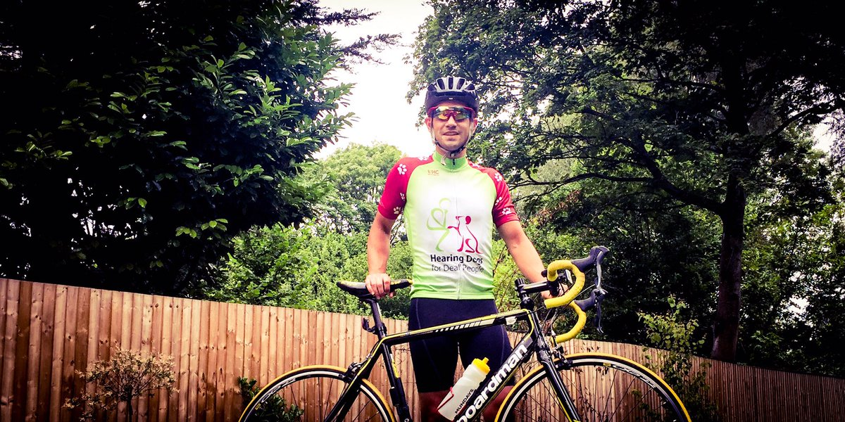 First ride in new @HearingDogs jersey training for Hearing Dogs 💯 Sportive. Donate at