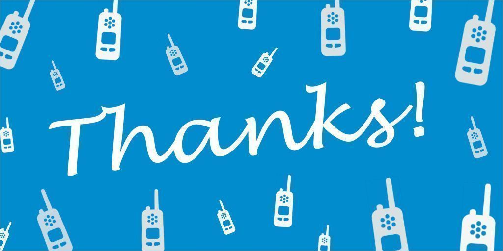 Thank you   +  welcome to all of our new #followers - keep in touch with for the latest #twowayradio news  #FF