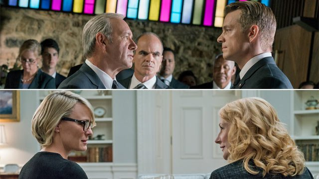 #HouseofCards fans, how many acting #Emmy noms will the show earn this year? Vote in our poll!  http://www. goldderby.com/article/2017/h ouse-of-cards-season-5-kevin-spacey-robin-wright-joel-kinnaman-news/ &nbsp; … <br>http://pic.twitter.com/FmNWvPWGdL