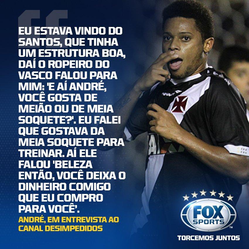 O atacante André revelou ter ficado assustado em sua chegada à São Januário.