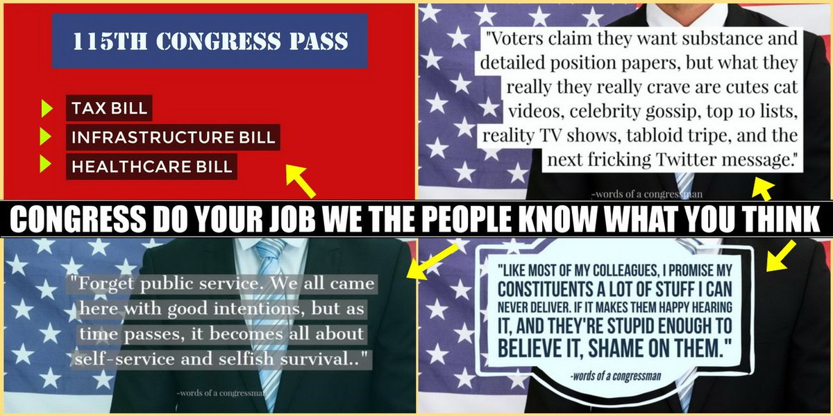 #CONGRESS Get To Work &amp; PASS: Tax Bill Infrastructure Bill Healthcare Bill The D.C. Business as Usual is Up Signed, #WeThePeople<br>http://pic.twitter.com/KVDsWvTd1Z